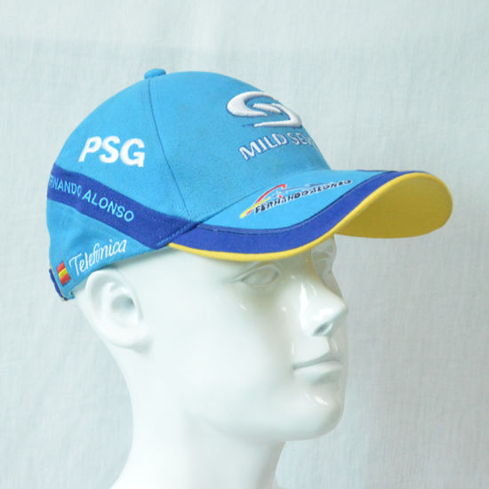Custom Blue Cottonsports Baseball Cap with 3D Embroidered Logo pictures & photos