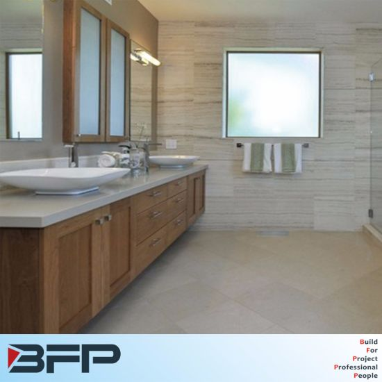 Double Basin Solid Wood Wall
