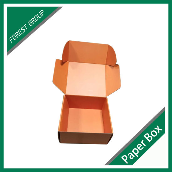 Orange Color Printing Cardboard Box Packaging