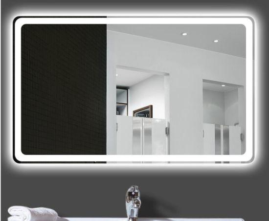 Hotel Bathroom Wall Mount Decoration LED Light Fogless Bluetooth Mirror
