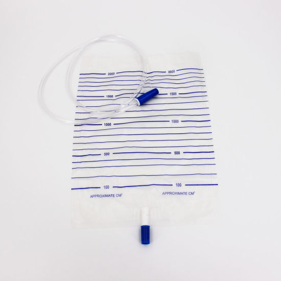 Pushing/Crossing Valve Disposable Urine Bag pictures & photos