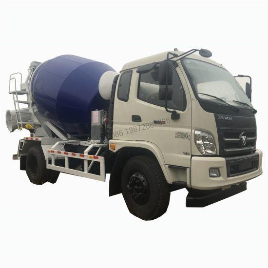 China Good Band 4X2 Type 5m3 6m3 Foton Concrete Mixer Truck