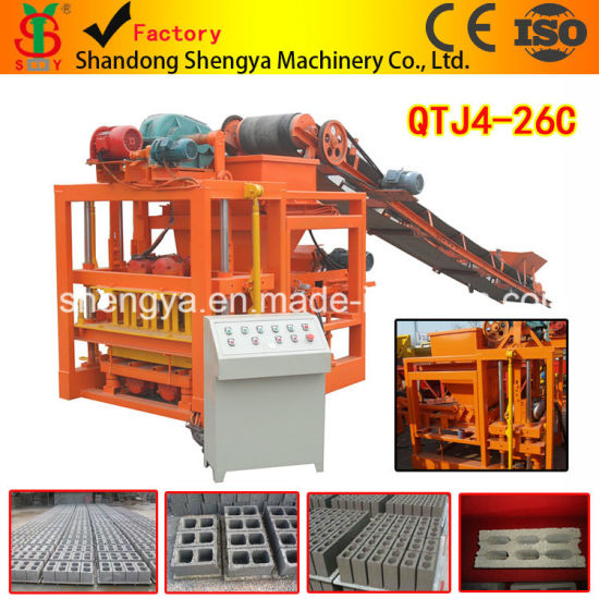 Qtj4-26c Holow Block/Paving Brick Machine with Pallet Feeding System Made in China pictures & photos