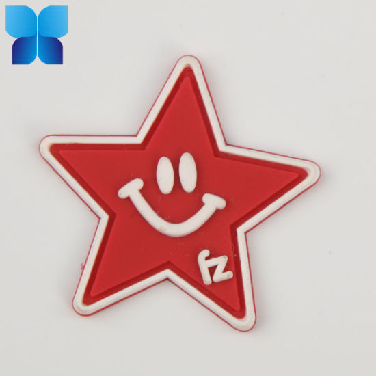China Decorative 3D Silicone Hotfix PVC Patch Clothing Label Patch