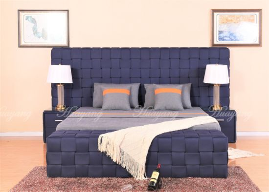 China Gas Lift Bed Living Room Bed Knit Lines King Size Bed Double