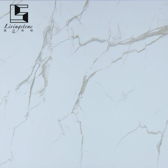 China Carrara Marble Tile White Full Glazed Floor Tile China Floor