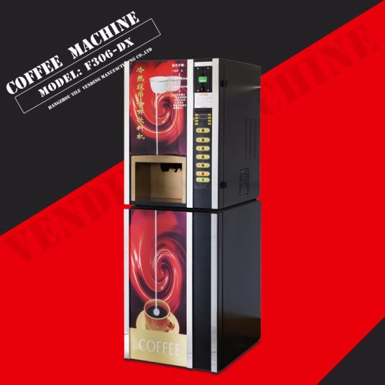 F306-Dx Automatic Coffee Vending Machine with Cup Dispenser