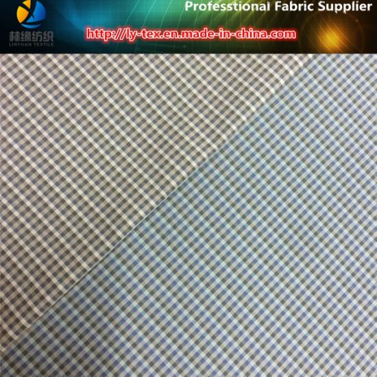 Polyester Yarn Dyed Mini Check Fabric for Jacket/Windbreaker/Garment/Lining (YD1174) pictures & photos