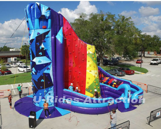 Giant SKY Inflatable Climbing Wall Climbing Mountain Sport game Sticky Rock Wall pictures & photos
