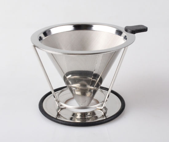 2 Cups 4 Cups Double Wall Stainless Steel Reusable Coffee Filter pictures & photos