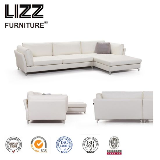 China Affordable Simple Color Genuine Leather Sofa For