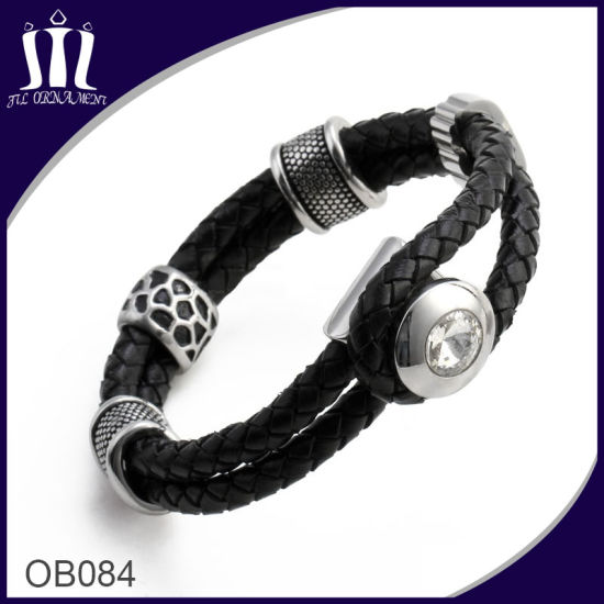 Punk Style Leather Bracelet Jewelry Men pictures & photos