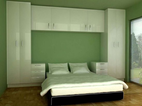 China White Color MDF Modern Bedroom Wardrobe Cabinets for Sale