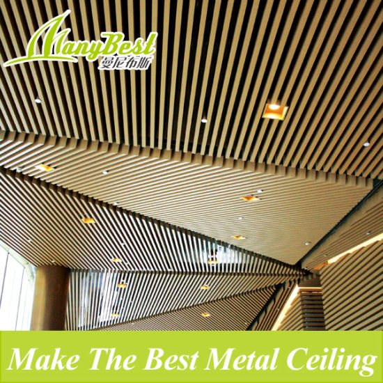 China Aluminum Metal Decorative Indoor Suspended Wood