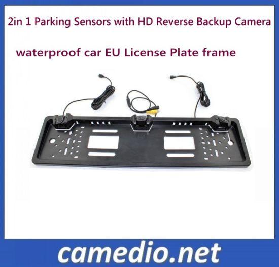 China EU Car License Plate 3 in 1 Car Video Parking Sensor System