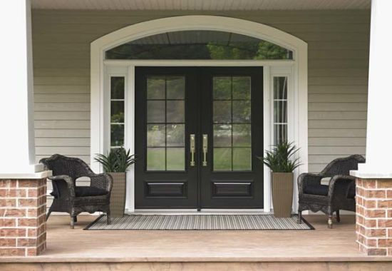 China Simple And Generous Steel Security Doors French Design Uid