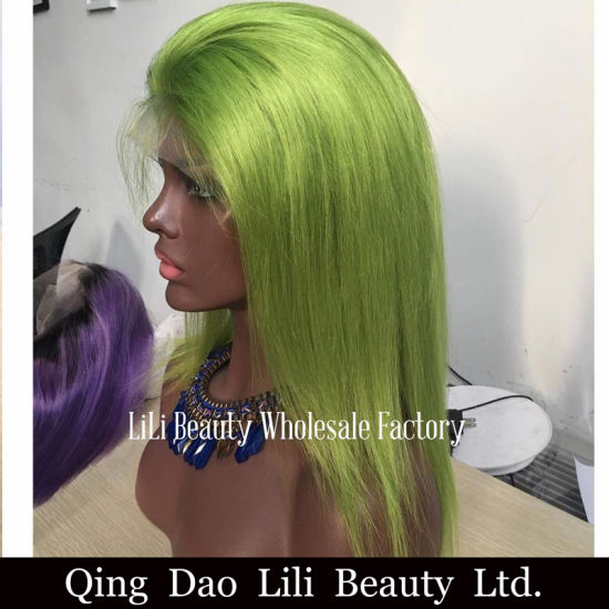 Lilibeauty Colorful Straight Lace Front Human Hair Wigs Peruvian Remy Wigs for Black Women No Tangle No Shedding pictures & photos