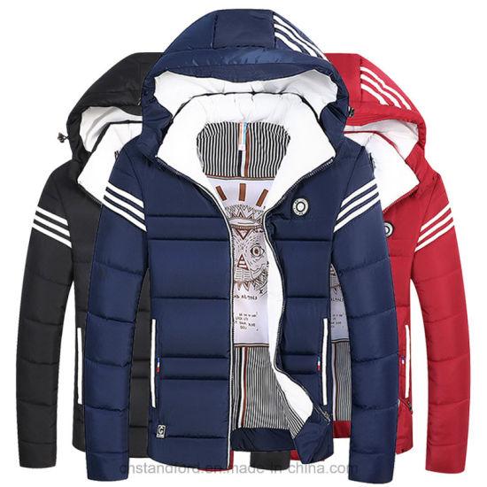 Fashion Linen Windbreak Warm Man's Winter Jacket