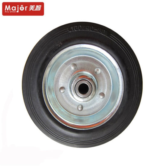8X4 Solid Rubber Smooth Wheel for Beach Cart pictures & photos