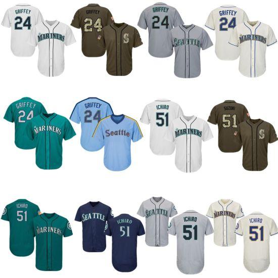 02f8ca547d China Men Women Youth Mariners Jerseys 24 Ken Griffey Jr. Baseball ...