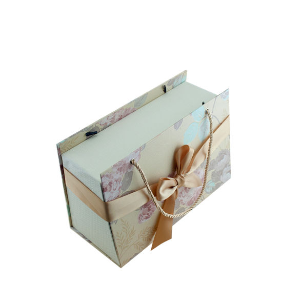 Large Paperboard Gift Packaging Box with Handle