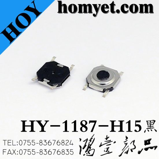 SMD Tact Switch with 4*4*2mm Round Button 4pin (HY-1187-H20) pictures & photos