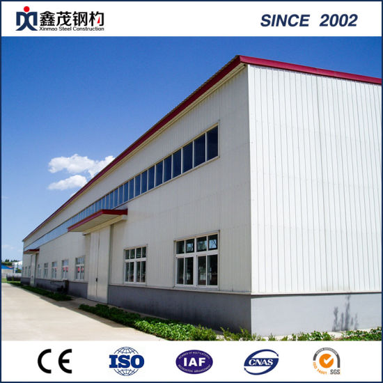 Earthquake-Proof Galvanized Prefabricated Steel Structure Workshop with Large Span pictures & photos