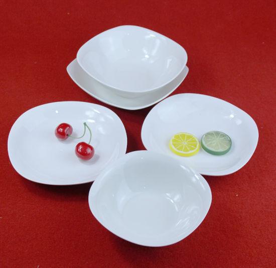 Good Quality Ceramic Tableware Dinner Set Square Salad Plate & China Good Quality Ceramic Tableware Dinner Set Square Salad Plate ...