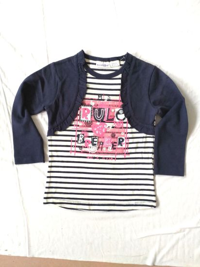 e92d9d16f China Faux 2 Pieces Girls T-Shirt Long Sleeves Children Clothes Baby ...