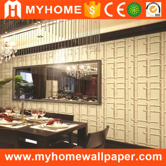 China Style Bamboo Wallpaper 3D PVC Wall Panel for Interior ...