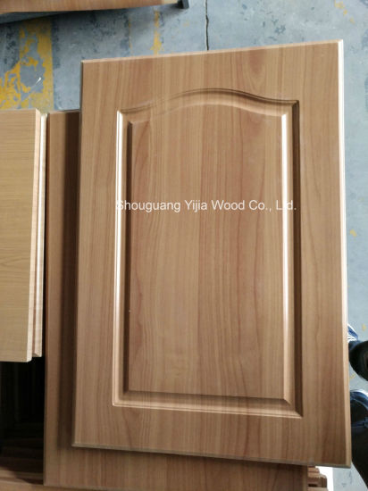 China Yijia Custom Pvc Thermofoil Faced Mdf Kitchen Cabinet Door