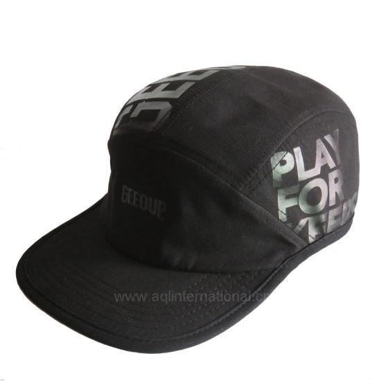 ad449f957c9b7 China Custom Ink Printing Flat Brim Cap 5 Panel Camp Hat - China ...