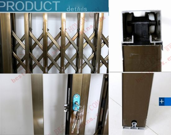 Burgular-Proof Aluminium Collapsible Door (BHS-DA06) pictures & photos