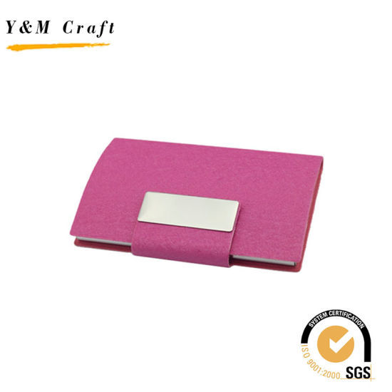 China pu leather and metel business card holder with custom logo pu leather and metel business card holder with custom logo reheart Image collections