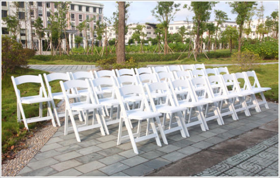 White Vinyl Padded Folding Chair pictures & photos