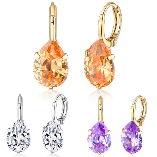 China Fashion Jewelry Designs Christmas Gift Zircon Earring Jewelry