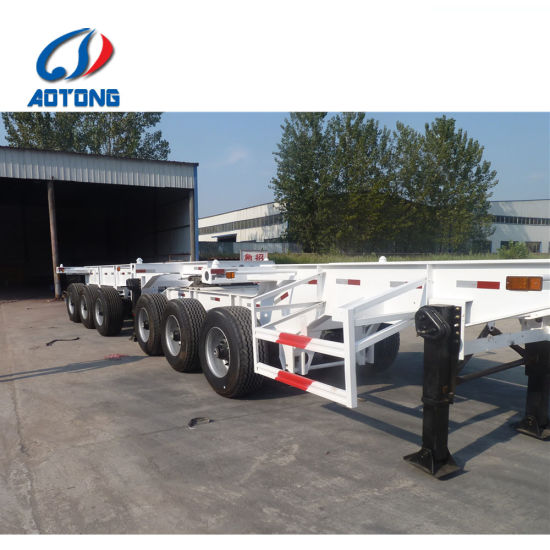 3+3 Axles Skeleton Container Superlink Semi Trailer pictures & photos
