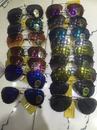 Fashionable Female and Male Sunglasses with Medal and Acetate