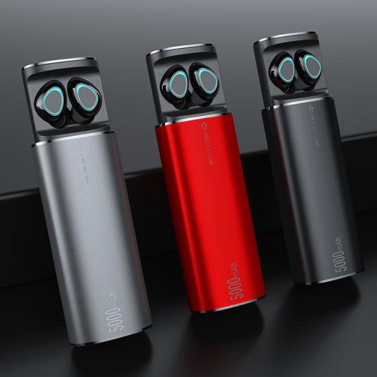 K100 Tws Wireless Bluetooth Earphones Headset with Microphone Touch Binaural Call Waterproof Earphone with 5000mAh Charging Box