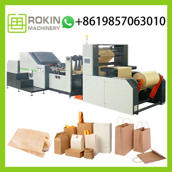 Good Price Auto Paper Bag Producing Machine with High Speed