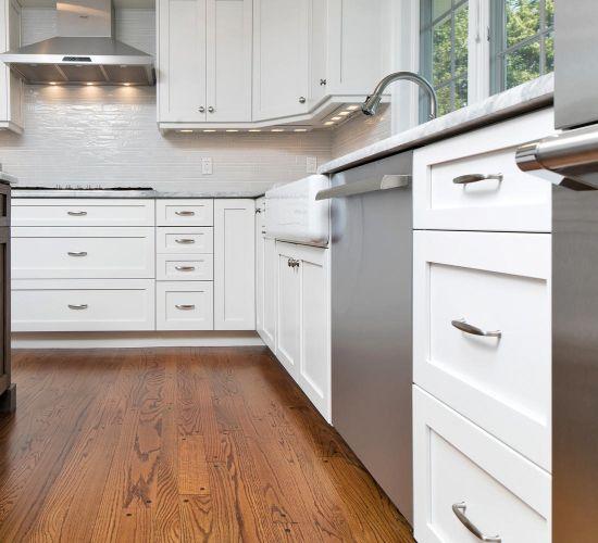 Frame Frameless White Shaker Kitchen, Shaker Kitchen Cabinet Doors