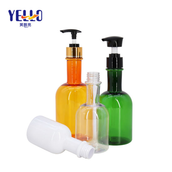 Fashion Clear Cylinder Pet Plastic Wine Container Hair Shampoo Bottle