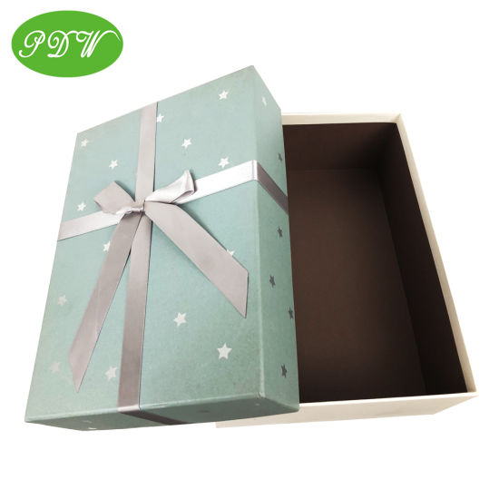 Huge Size Custom Cardboard Package Gift Box with Lid Bowknot Christmas Gift Box