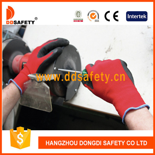 Nylon Hand Gloves with The Foaming Latex Coated Gloves Ce 2122