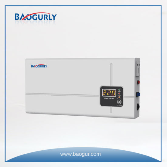 Wall Mounted Digital 2000va Electronic Voltage Regulator Voltage Stabilizer