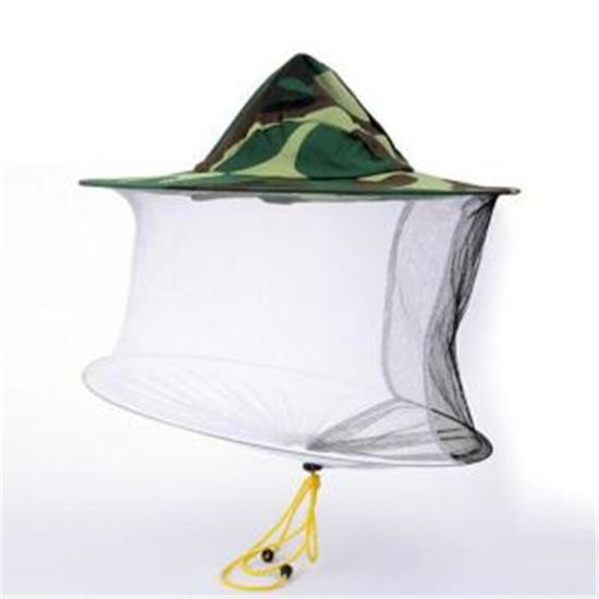 9efc19dee76db Camouflage Bee Keeping Fishing Hat Insects Mosquito Net Protective  Apicultura Material Used Beekeeping Hat