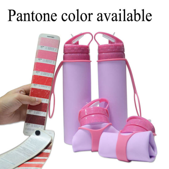 600ml Silicone Foldable Water Bottle