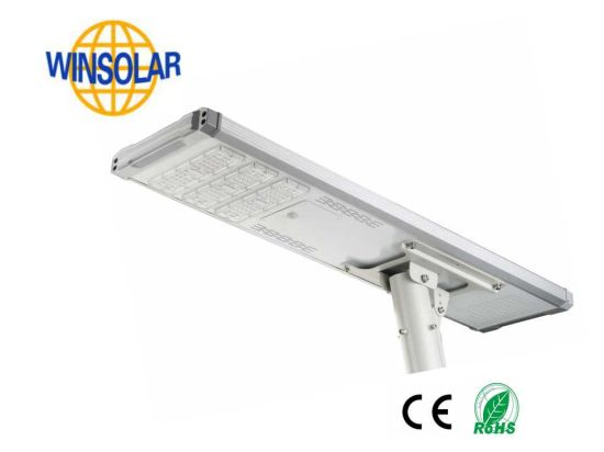 Outdoor 10m 100W LED Solar Street Light with Lithium Battery pictures & photos