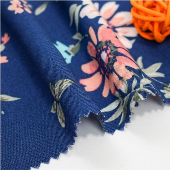 High Quality Floral Design Digital Printing/Printed Woven 100% Rayon Fabric