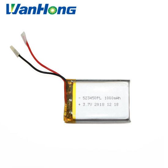 Li-ion Battery 3.7V 523450pl 1000mAh Lithium Battery Li-Polymer Battery for GPS